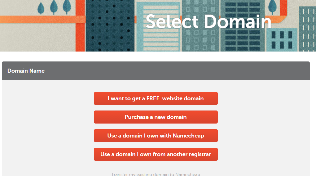 namecheap select domain