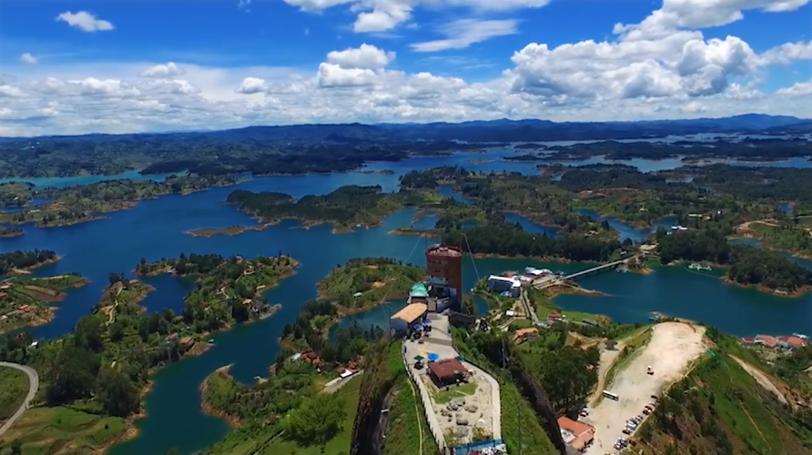 The rock of Guatape Colombia