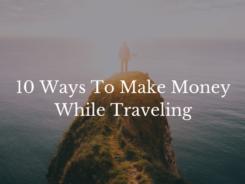 make money travelig